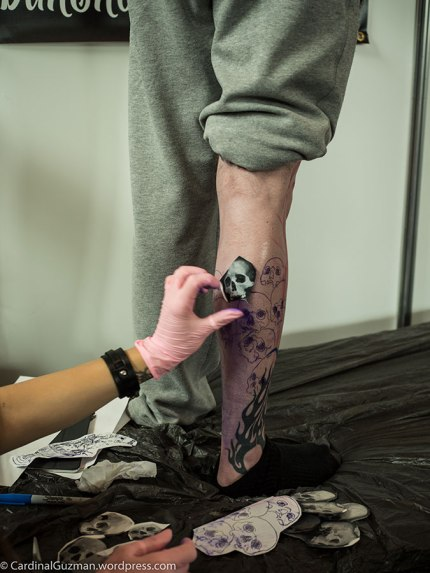 Georgiana Stoian (Ciresica) working on a leg piece.