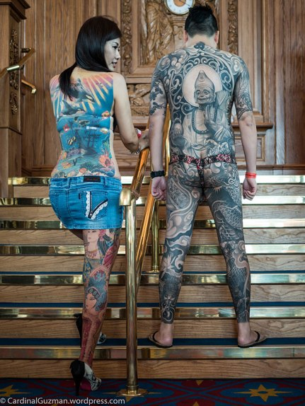 Both models tattooed by 梵天慶, George Chou, funtiantattoo.