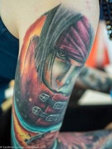 Kayley Henderson's arm.