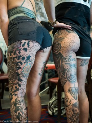Carissa Black and Hollie Mayne were modelling for this epic bum photo. Ink by snoopytats.