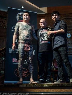 Tattoo model with Julian Carson & George Chou.