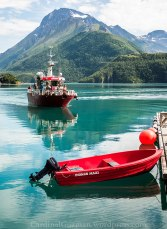 Ferry to Svartisen.