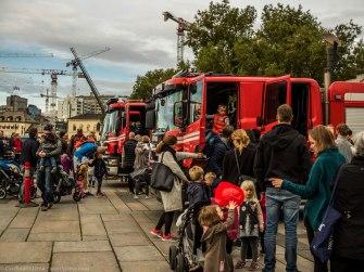 Fire trucks at Rådhuskaia (City Hall Docks).