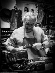 Ugo - the leather man at La Luna in Rosenkrantzgate.