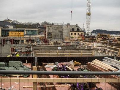 Construction near Vestbanen.