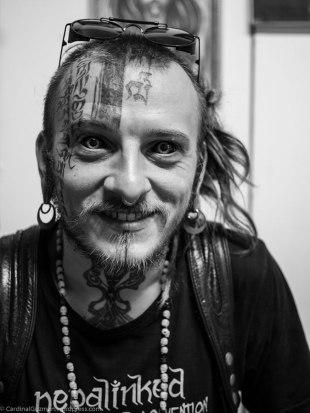 "Serjiu Arnautu at Natcha's shop ""Bubblebrain Tattoo'n'Art."