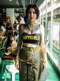 Model at Thailand Tattoo Expo 2017