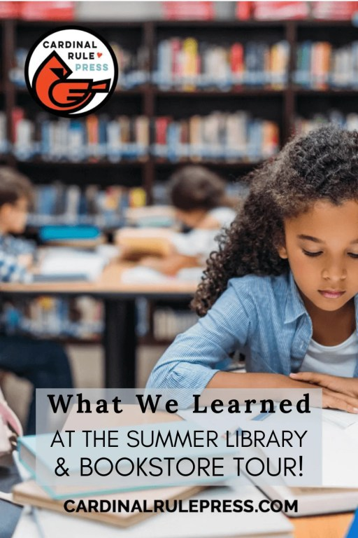 What We Learned At The Summer Library Bookstore Tour- We've gathered some of our favorite BEST PRACTICES from our tours to bring you their BEST IDEAS, RESOURCES & PROGRAMS! #SummerLibrary #BookstoreTour #MarketingIdeas #Librarians