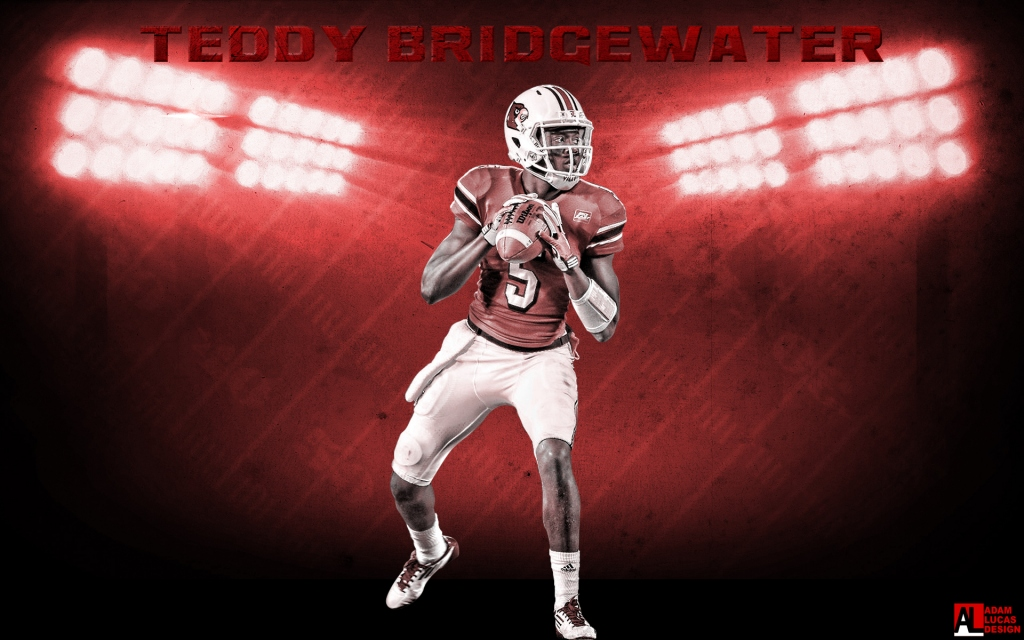 This one features UofL QB Teddy Bridgewater! Check out more of Adam's work on our UofL Designs page, and for all of his work, go to adamlucasdesign.com!