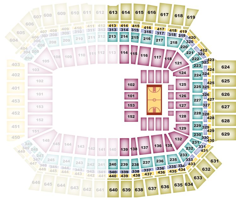 Lucas Oil Stadium Seating Chart For This Weekend Cardinal