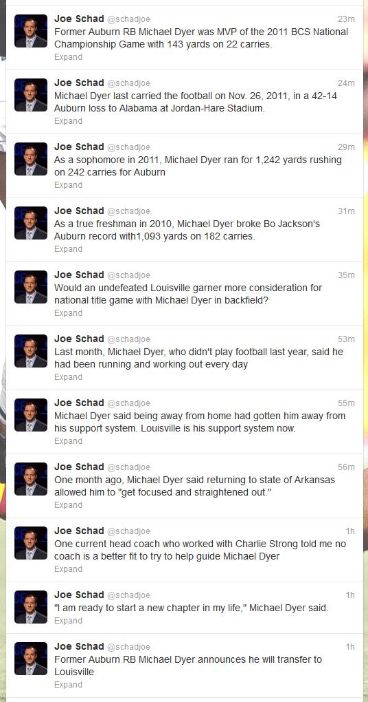 Joe Schad (schadjoe) on Twitter