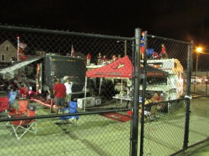 Fan tailgating after the game...