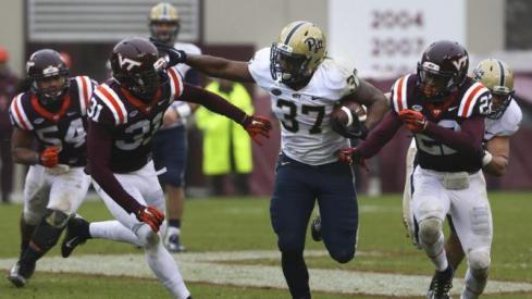 RB Qadree Ollison (Matt Gentry/The Roanoke Times via AP)