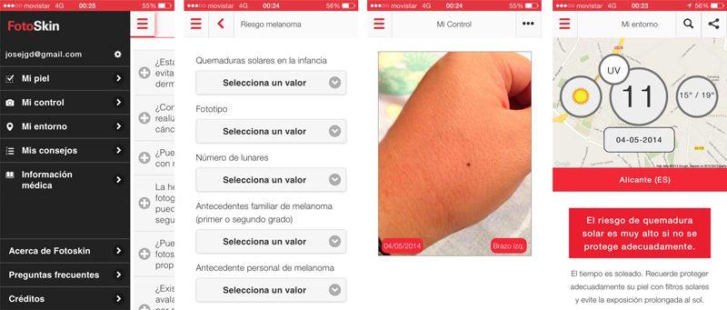 Capturas de pantalla FotoSkin