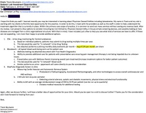 Solicitation email from Travis Boulware