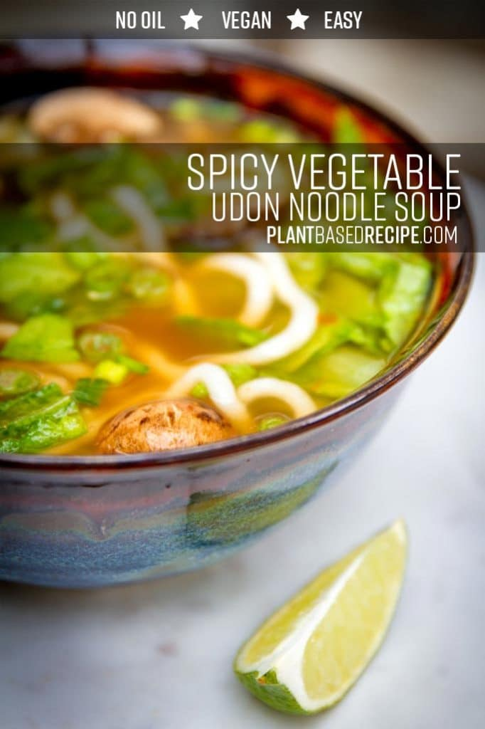 Spicy udon noodle soup recipe.