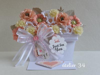 atelier 34 お花いっぱいのイーゼルカード