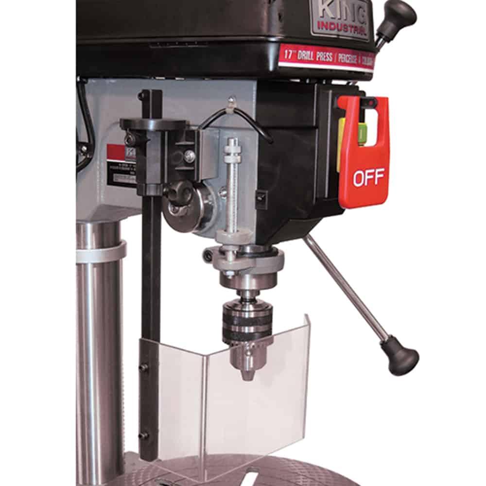 Drill Press Guard >> New King 17 Drill Press With Safety Guard Kc 118fc Ls