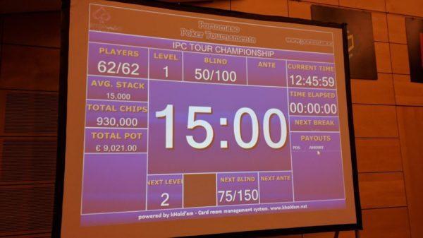 poker tournament clock