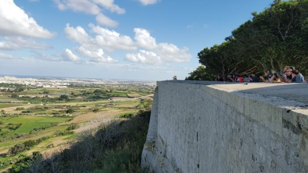 view from Mdina, Malta
