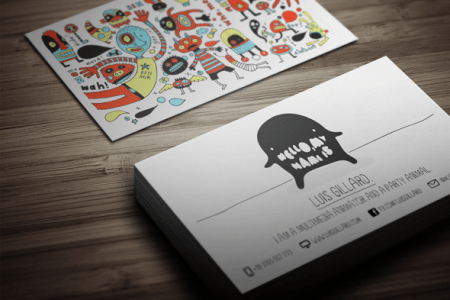11 Amazing Business Card Templates for DJ s   CardRabbit com     Cool and Creative Business Card Template