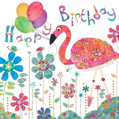 Flamingo birthday Flamingo Paperie greetings cards
