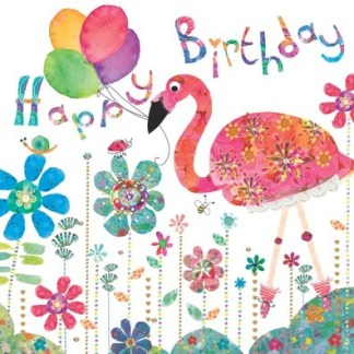 Flamingo birthday Flamingo Paperie greetings cards