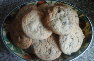 Chocolate Chip Cookies from Linda McCartney recipe, altered slightly