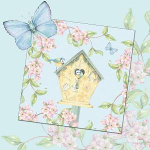 card 'Birdhouse and Blossoms' (code: WS420)