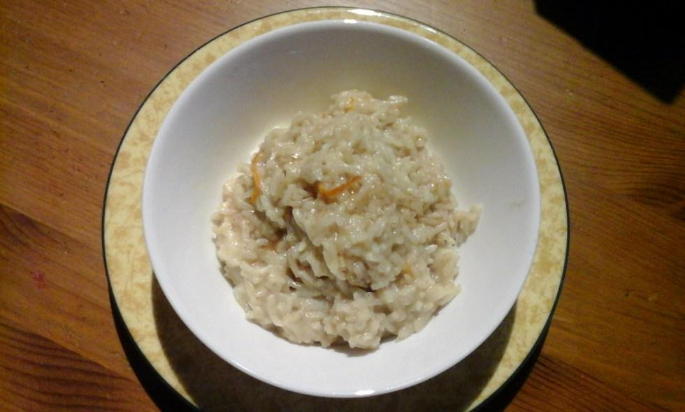 Coconut orange rice pudding recipe