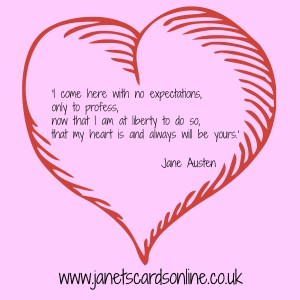 Jane Austen Sense and Sensibility love quote Valentines Day
