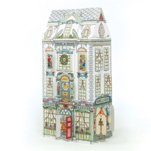 'Department Store advent calendar' 3D advent calendar with doors and windows to open every day. Code ADV27 traditional advent calendar