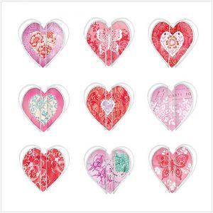 Painted Hearts Valentines