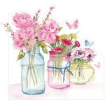 Three flower jars