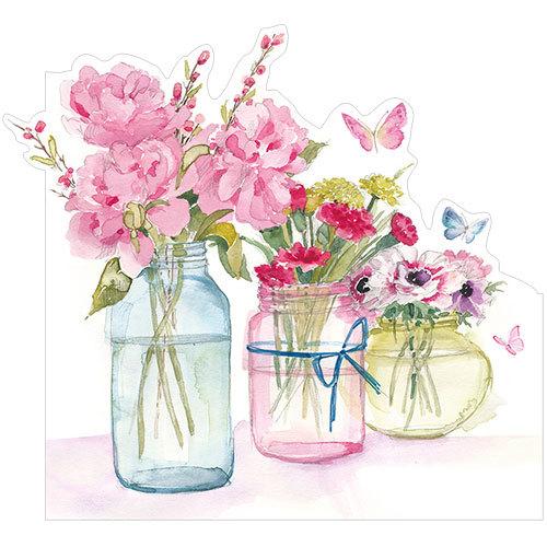 Three flower jars