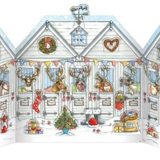 Flamingo Paperie advent calendars Reindeer Stables Advent Calendar xadv03