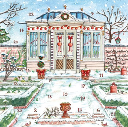 Christmas Garden advent calendar card