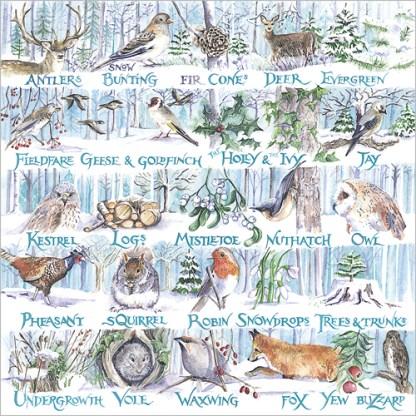 snowy woodland christmas cards