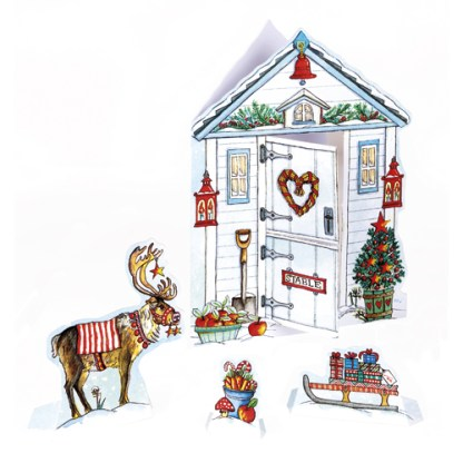 reindeer stable christmas cards are charity