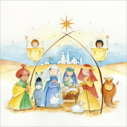 little nativity christmas cards