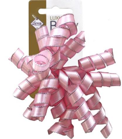 satin curlies soft pink bow