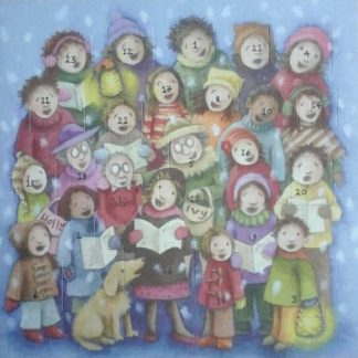 Carol Singing advent calendar card