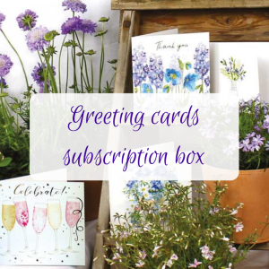 greeting cards subscription box