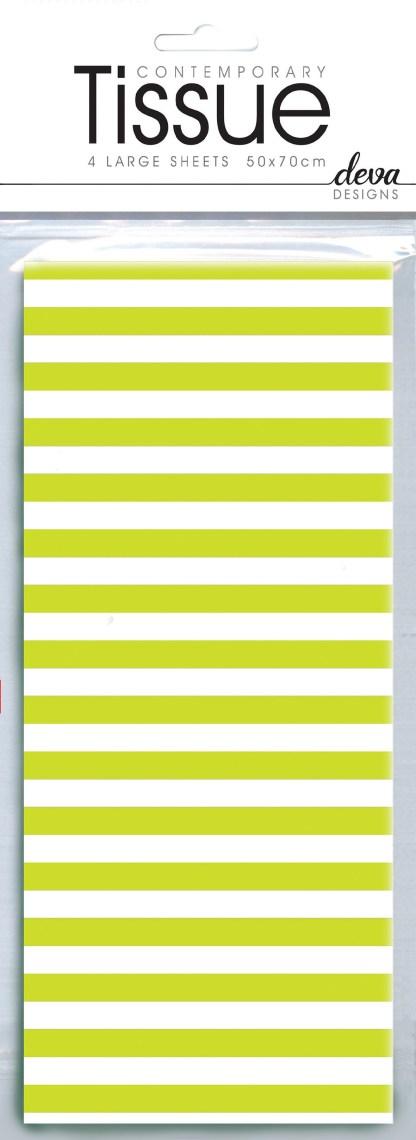 Lime stripe tissue