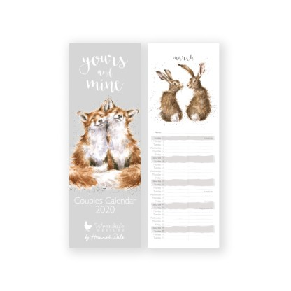 Yours and Mine Couples Calendar