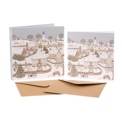 Snowy Village Christmas cards