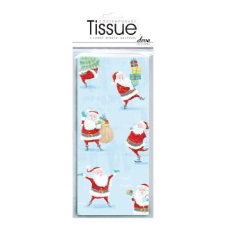 Santa Snow Fun Tissue