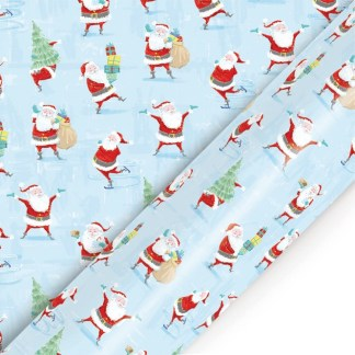 Santa Snow Fun Roll Wrap 3m