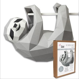 Sloth papercraft kit