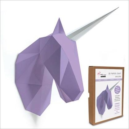 unicorn papercraft kit